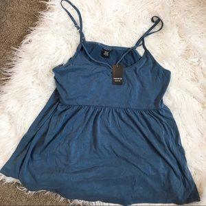 Torrid new blue tank top/ blouse